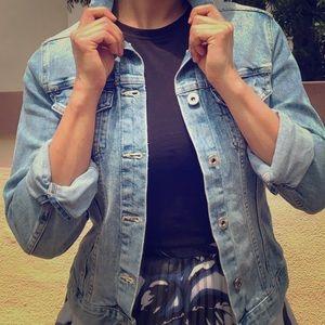 Medium wash H&M denim jacket XS